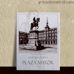 Azulejo 15x20 cm. Plaza Mayor Madrid.