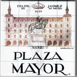 Azulejo 15x15 cm Plaza Mayor